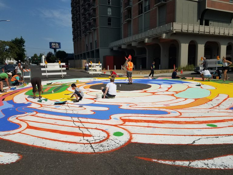 Lloyd intersection mural painting