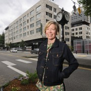 Sarah Heinicke is the executive director of the Lloyd Eco-District, which works to make sustainability-related improvements in the neightorhood. (Sam Tenney/DJC)