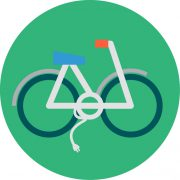 Electric Bike Icon