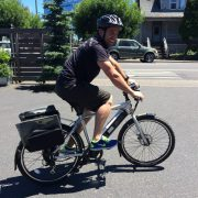 Rider on a GenZe e-bike
