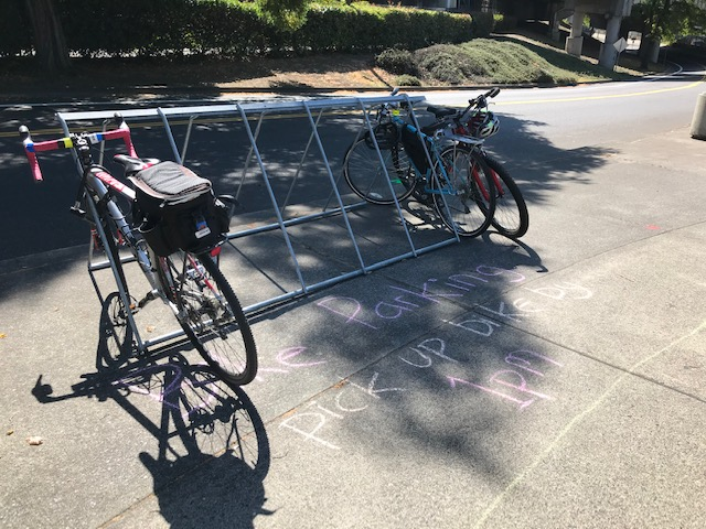 Bike parking stand provided by Go By Bike!