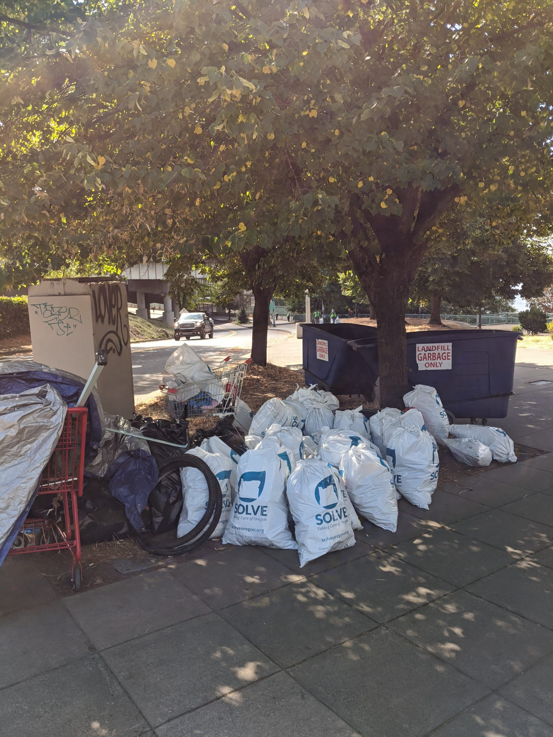 Thank you to the Convention Center for helping us dispose of all the garbage!