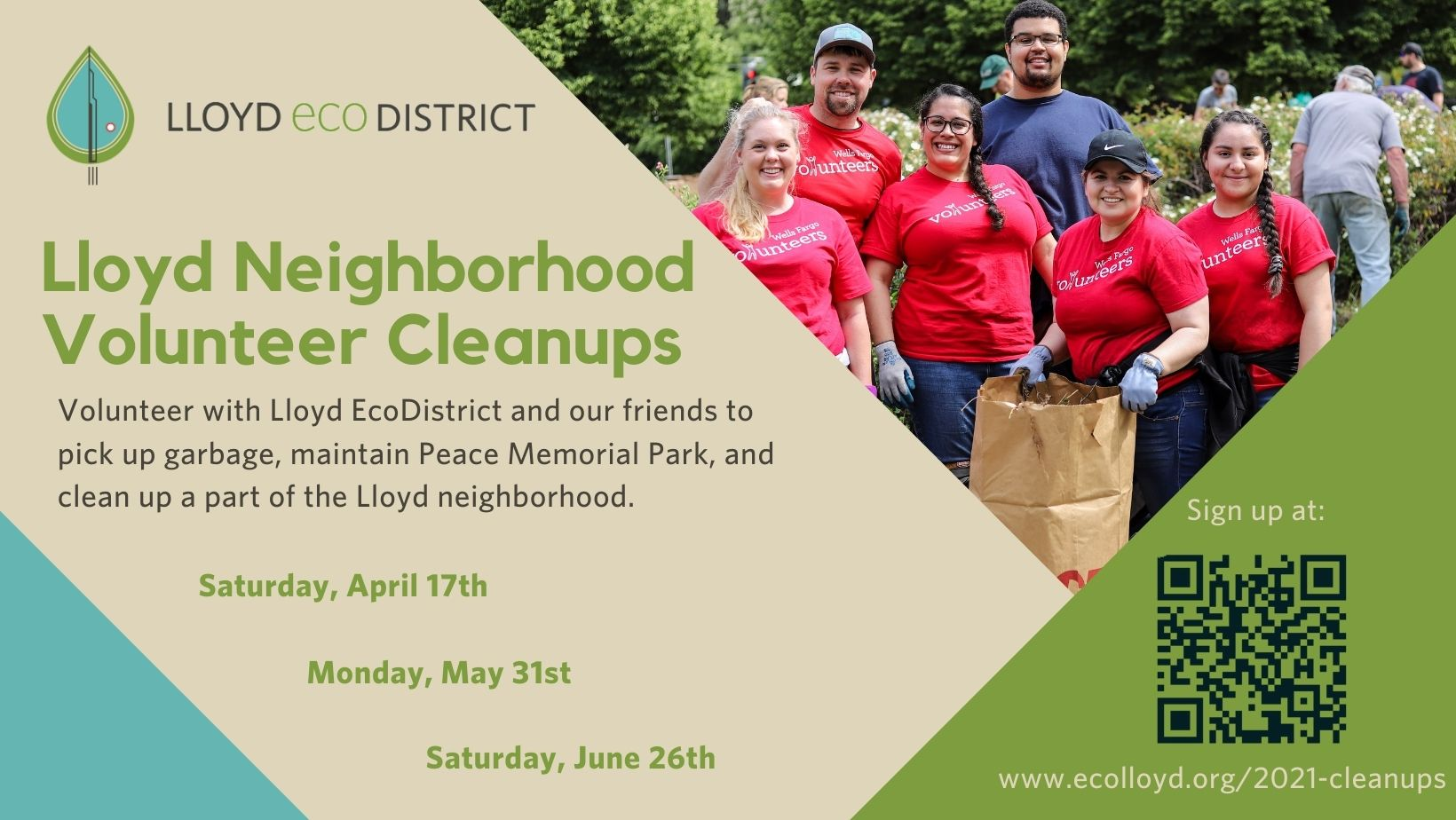 Peace Memorial Park / Lloyd EcoDistrict Cleanup